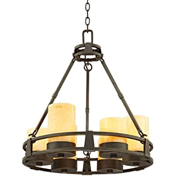 this item sunset onyx stone 6light faux candle chandelier