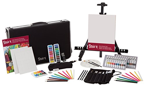 Darice 101 Piece Art and Easel Set from
