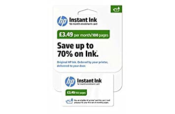 HP Instant Ink einschreibung Card - 100 lado Plan.: Amazon ...