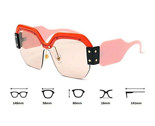 de no Azul sol vendimia Gafas de la retra de cuadradas de polarizadas tamaño plástico señora la gran lente de Marco la Rw5t6Ttqx