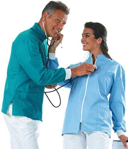 Angiolina Casacca Medica Verde Chirurgico per Dentista Odontotecnico a Maniche Lunghe MS1701
