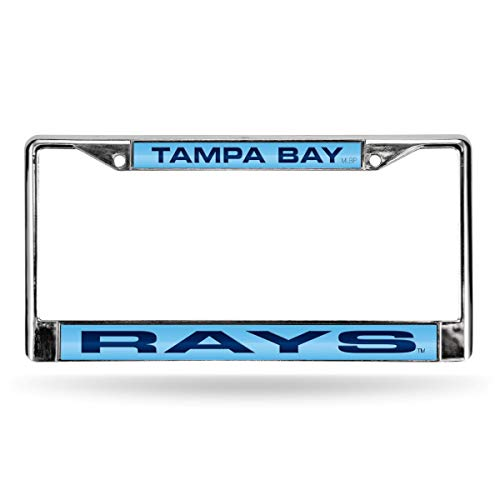 Tampa Bay Rays MLB Chrome Metal Laser Cut License Plate Frame