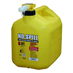 No Spill 5 Gallon Yellow Diesel Gas Can