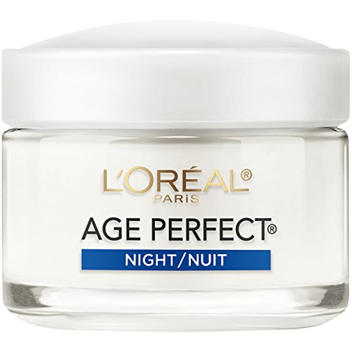- L'Oréal Paris Skin Care Age Perfect Night Cream, Anti-Aging Face Moisturizer with Soy Seed Proteins, 2.5 oz.