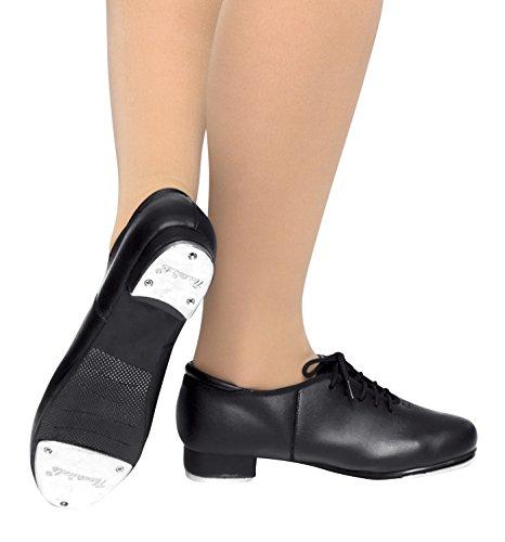Child Lace Up Tap Shoes,T9500CBLK01.0M,Black,01.0M