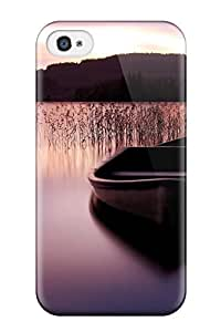 Awesome Case Cover/iphone 4/4s Defender Case Cover(boat On A Purple Lit Lake)