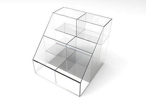 FixtureDisplays Large Plaxiglass Acrylic 3-Tier 6-Bin Free Combo Display 100815 by FixtureDisplays