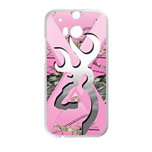 Pink Camo Camouflage Browning Cutter Silver Custom Case Cover of HTC One M8 (Laser Technology) by Maris's Diary