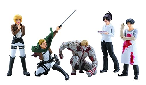 Attack on Titan Real Figure Collection Capsule Series 4 Complete Set of All 5 Figures