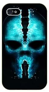 iPhone 5 / 5s Blue skull - black plastic case / hipster, tribal