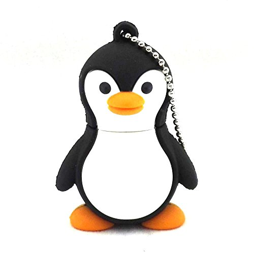 Aneew Pendrive 32GB Penguin Cartoon Animal USB Flash Drive Memory Thumb Stick U Disk