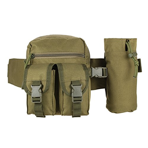 DWEFVS Unisex Tactical Hip Packs Waist Bag Fanny Pack Hiking Fishing Sports Hunting Belt Pouch Army Green by DWEFVS