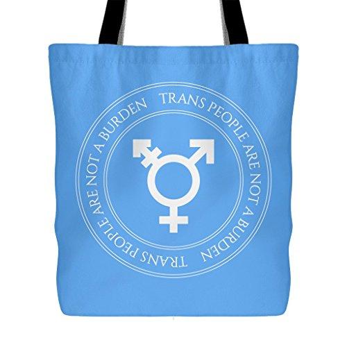 Transgender Pride, Heavy Duty Tote Bag, Large Reusable Over the Shoulder Handbag, Perfect for any Outspoken Transgender, LGBT, Queer Person or Ally - 18