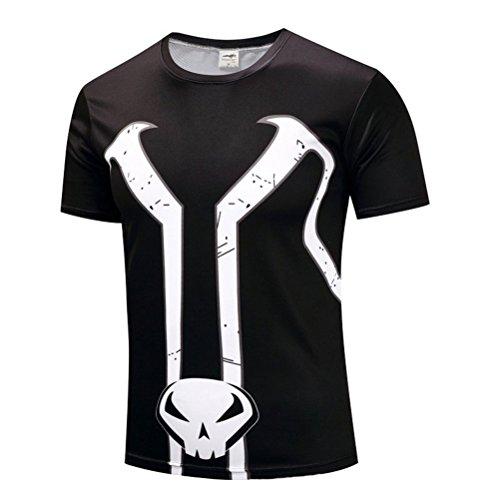 Mens Cool Spawn Superhero Costume,Slim Dri Fit Running Workout Tee -