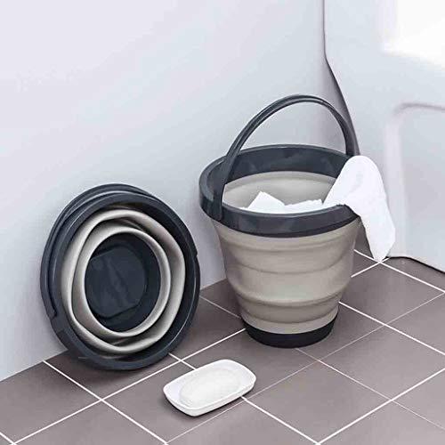 Karooch Portable Retractable Inverted Water Bucket Collapsible Bathroom Trash Can Waterproof Handle Washbasin for Travel Outdoor Car ()