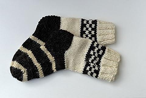 EXTRA THICK Socks Winter Women Men Genuine Sheep Wool Hand knitted Knit Warm Ski Bed Boots Climbing Trekking