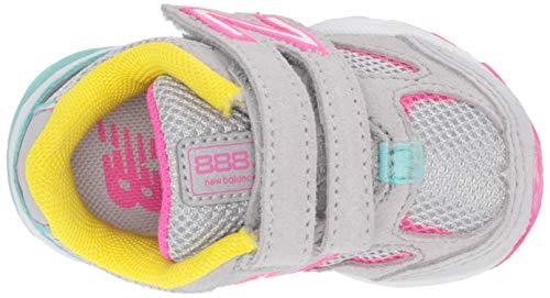 New Balance Girls' 888v2 Hook and Loop Running Shoe Grey/Rainbow 2 W US Infant by New Balance (Image #8)
