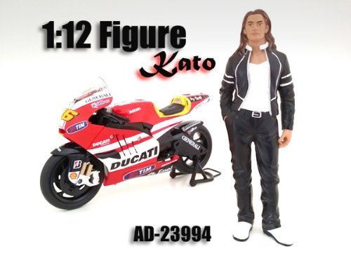 Biker Kato Figure   Figurine For 1 12 Scale Motorcycles by American Diorama 23994 by American Diorama