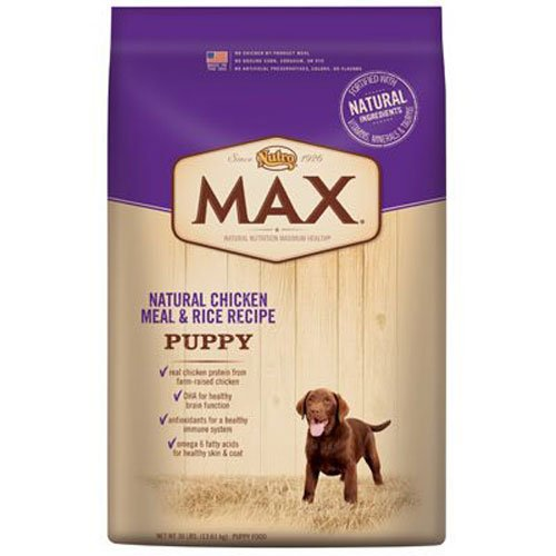 Nutro MAX Puppy Food, Natural Chicken Meal and Rice 30 lbs. by Nutro