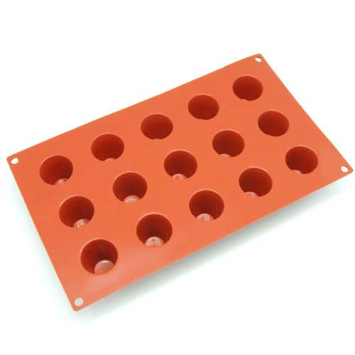 Freshware Silicone Mold for Popover Muffin, Cupcake, Pudding, Cheesecake and Panna Cotta, Mini, 15-Cavity