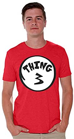 icustomworld Men's thing 1 and thing 2 shirts (3XL, Thing 1)