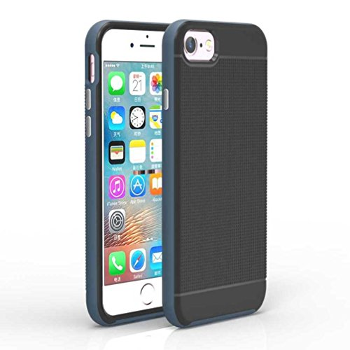 """4.7"""" iPhone 7 Coque, AOFad Case Antidérapant Protection des lourds Mince Bleu Marine Plastique Hornet Accessoires Série Pour Femme Homme L176"""