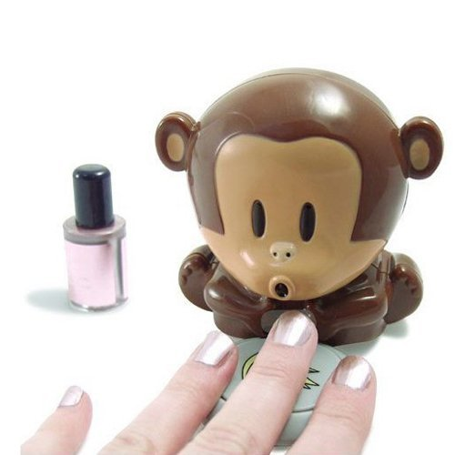 HD Design Cute Monkey Shaped Manicure Nail Polish Blower Dryer