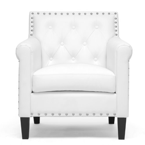 Baxton Studio Thalassa Modern Arm Chair, White