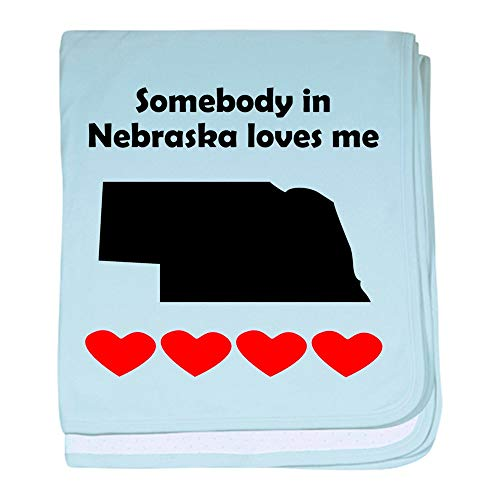 CafePress Somebody in Nebraska Loves Me Baby Blanket, Super Soft Newborn Swaddle