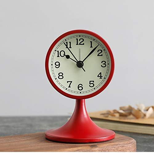 ksjdjok Reloj Despertador Cuarzo Nordic Vintage Desktop Metal ...