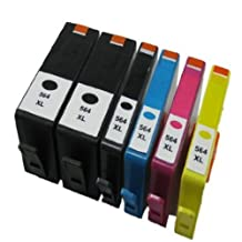 Inkcool Remanufactured Ink Cartridge Replacement for HP 564XL (Black,Photo Black,Cyan,Magenta,Yellow,6-Pack) by Inkcool