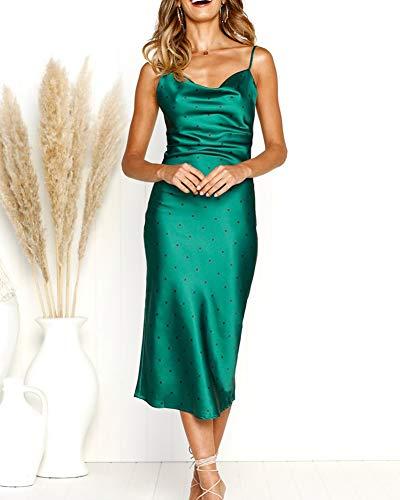 a50dd89da0 Oficina Mangas Ceremonia Cóctel 100249 Mujer Sin Vestidos Fiesta Eventos  Casual Verde Midi zaqqgFwxZ