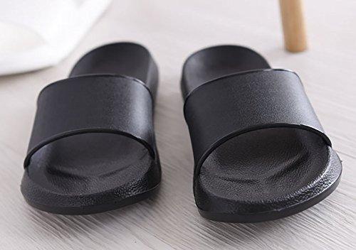 suola in o piscina senza esterni Ciabatte di resina Black EVA lacci antiscivolo interni adulti aperte per per schiuma doccia bagno zwPwq07