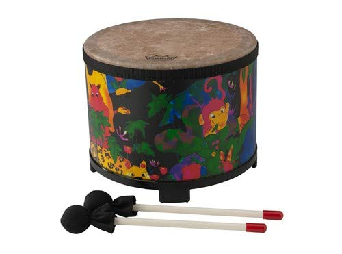 Remo KD-5080-01 Kids Percussion Floor Tom Drum - Fabric Rain Forest, 10