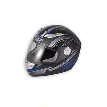 A-Pro A fibra casco integral Moto Removable Lavado Bar ECE genehmigt Mate Azul M