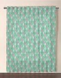 Dusky Pink Shower Curtain iPrint One Panel Extra Wide Sheer Voile Patio Door Curtain,Home Decor,Original Funny Teardrops Rain Shower Textured Pattern Children Baby Girl Image,Pink Green,for Sliding Doors(108