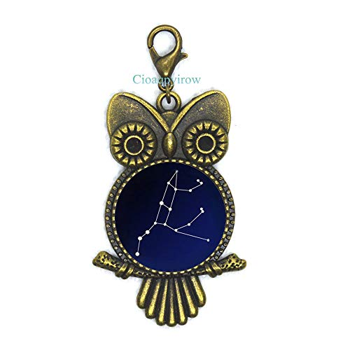 Cioaqpyirow Star Constellation,Northern Sky,Space,Univers,Astronomy•Owl Zipper Pull,Men's Owl Zipper Pull Gift to The Man,Gift Brother,HO0E269]()