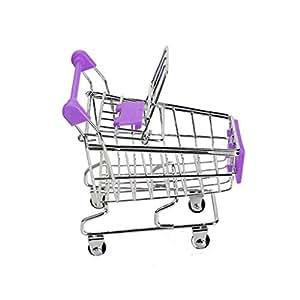 Bobury Bebé Niños Simulación Mini Carro de Compras Juguetes carros de Mano de supermercado Cesta del almacenaje de la Carretilla de Juguete: Amazon.es: ...