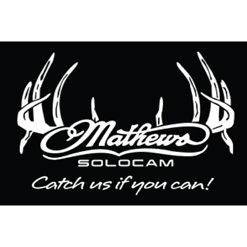 Amazoncom  DWD Mathews Solocam Antler Decal XInch White - Bowtech custom vinyl decals for trucks