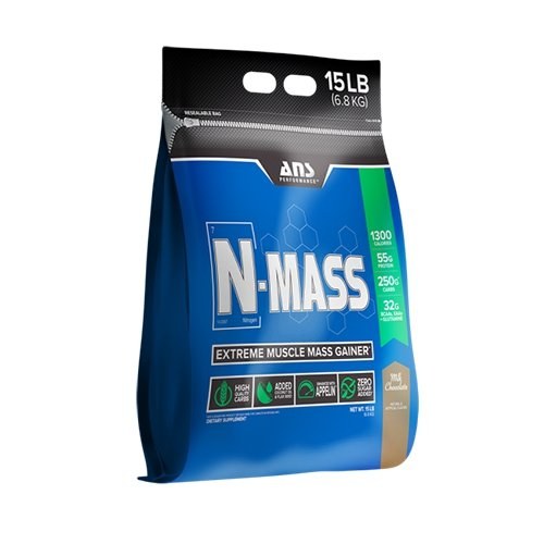 ANS Performance N-Mass Muscle Mass Gainer, Premium Mass Builder For CLEAN (quality) Gains, Peanut Butter Fudge, 15 Pounds