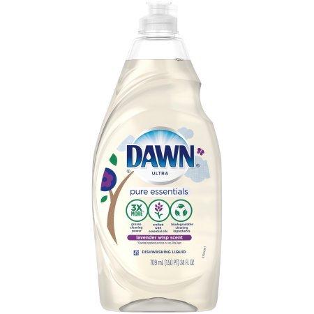 Dawn Pure Essentials Lavender Wisp Dishwashing Liquid, 24 Fl Oz (3 Pack) (Dawn Dish Soap Lavender)