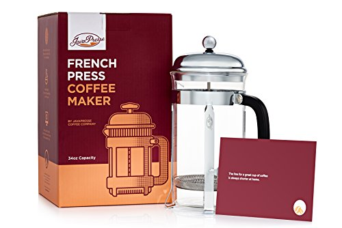 French Press Iced Coffee Maker : JavaPresse French Press Coffee Maker - Serves Cold Brew, Tea, & More - Reinforced Glass Carafe ...