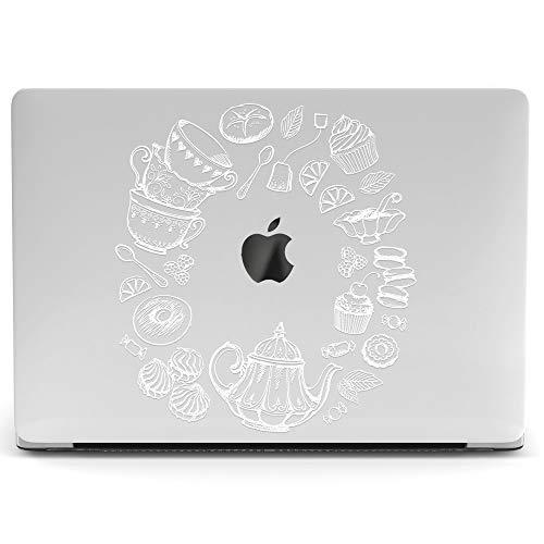 Wonder Wild Mac Retina Cover MacBook Pro 15 inch 12 11 Clear Hard Case Air 13 Apple 2019 Protective Laptop 2018 2017 2016 2015 Plastic Print Touch Bar Cute Tea Break Pattern Teapot Biscuit Wreath]()