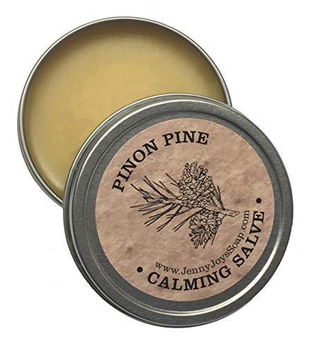 Pinon Pine Calming Drawing Salve 2oz Natural Antibacterial Healing Balm of Southwest. Uses: Burns, Psoriasis, Eczema, Beard, Drawing Salve, Infections, Dry Skin from Arizona by Jenny Joy's Soap