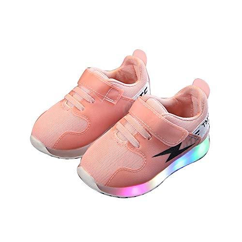 edv0d2v266 Fashion Baby Toddler Kids Girls Boys Light up Led Luminous Casual Shoes(Pink 29/11.5MUSLittleKid) by edv0d2v266
