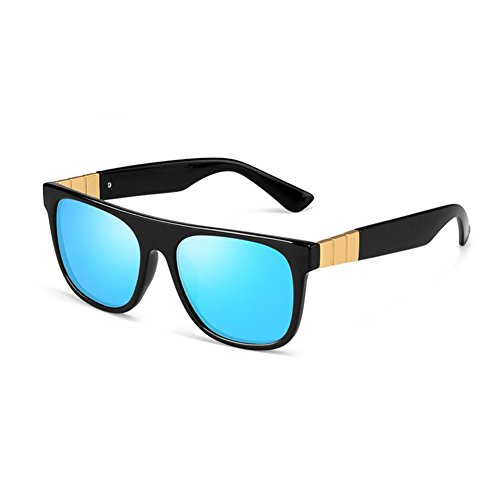 unisex Mujeres de Alta conducción polarizadas Gafas Color sol Gafas calidad Hombres HONEY de Plata La Azure v1tYqx