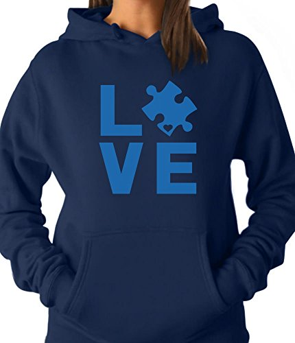 (Tstars - Autism Awareness Month - I Love Someone Autism Women Hoodie X-Large)