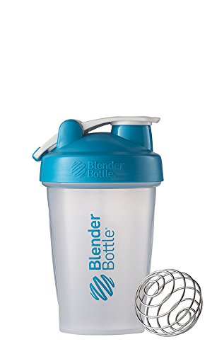 BlenderBottle Classic Loop Top Shaker Bottle, Clear/Aqua, 20-Ounce