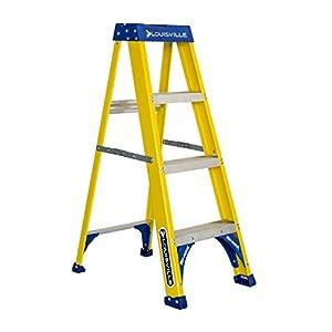 Louisville Ladder FS2004 250-Pound Duty Rating Fiberglass Step Ladder, 4-Feet