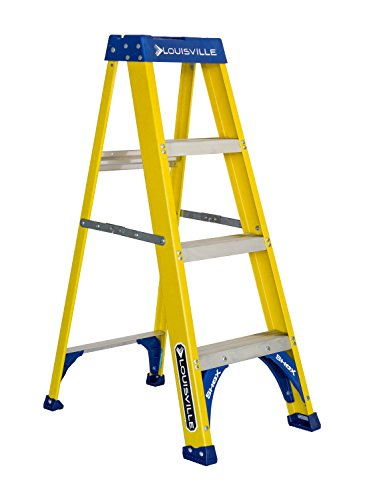 Louisville Ladder FS2004 Fiberglass Step Ladder 4-Feet/250lb